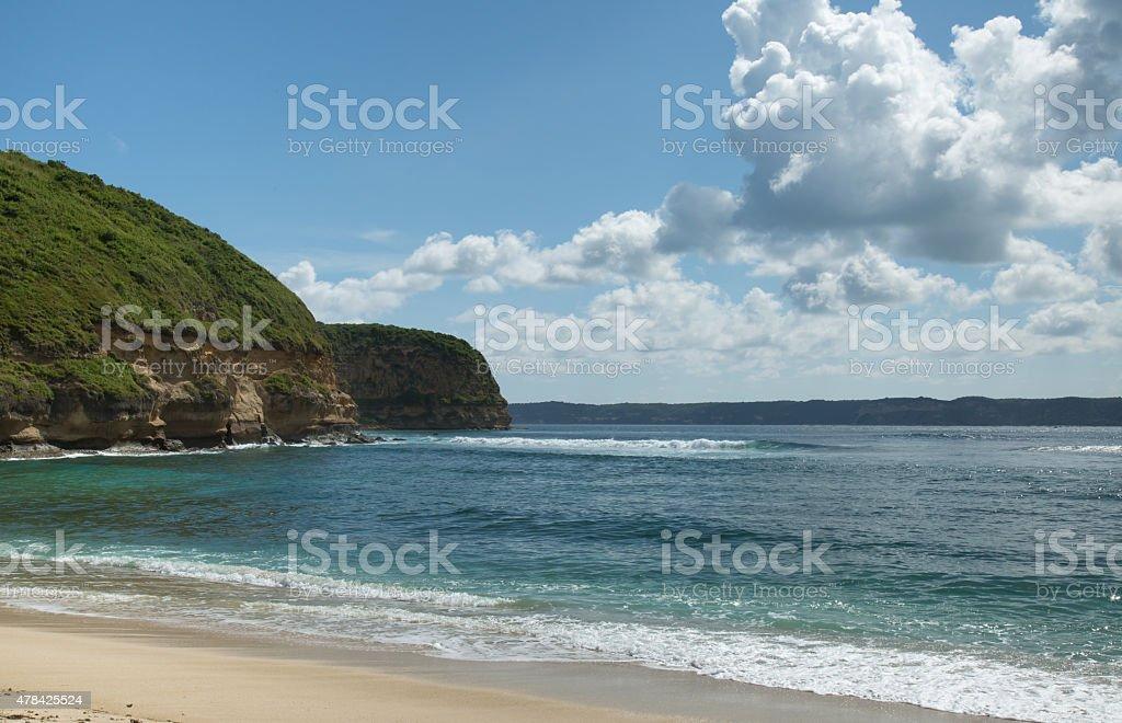 Beautiful Bali beach. stock photo