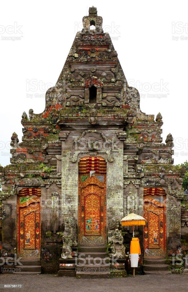 Beautiful Bali temple entrance. Bali. Indonesia stock photo