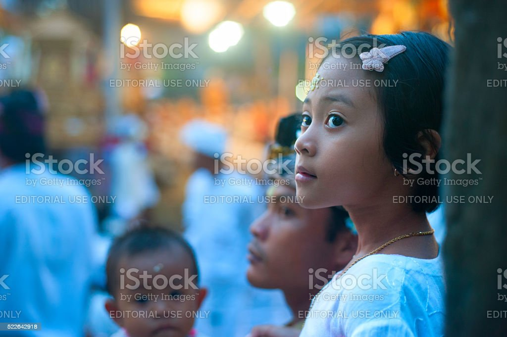 Beautiful Balinese girl stock photo