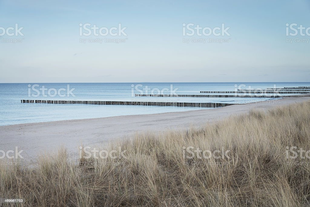 Beautiful Baltic Sea Beach Zingst royalty-free stock photo