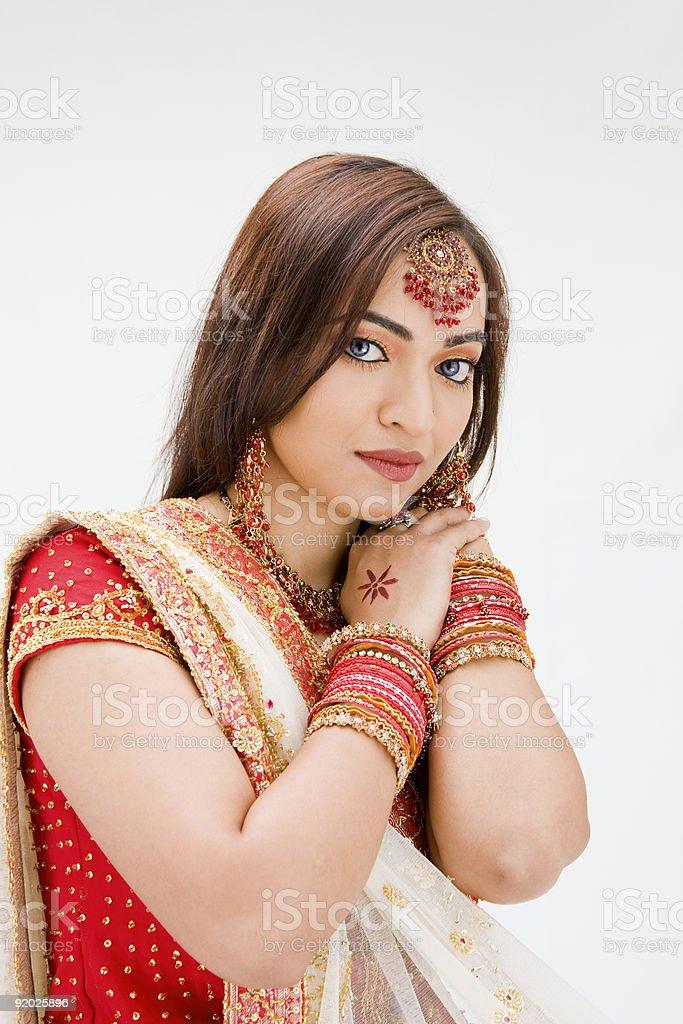 Beautiful Bangali bride royalty-free stock photo