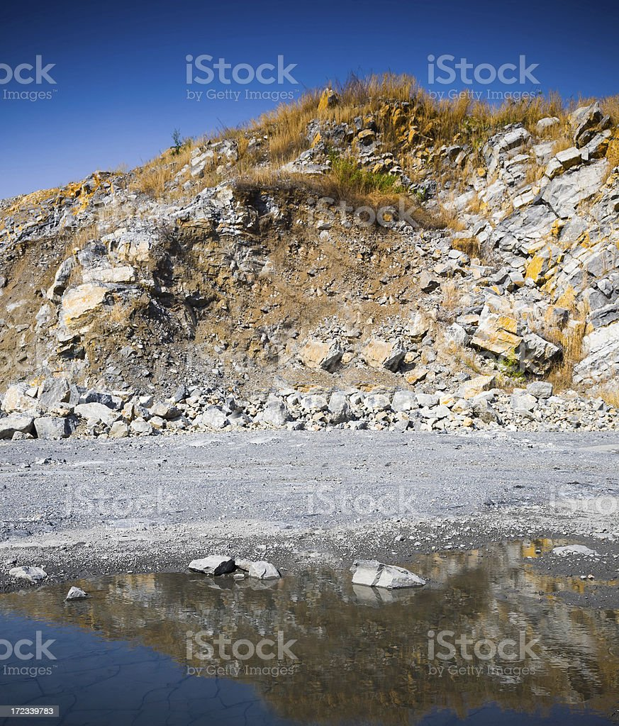 Beautiful barren landscape in the rocky mountains royalty-free stock photo