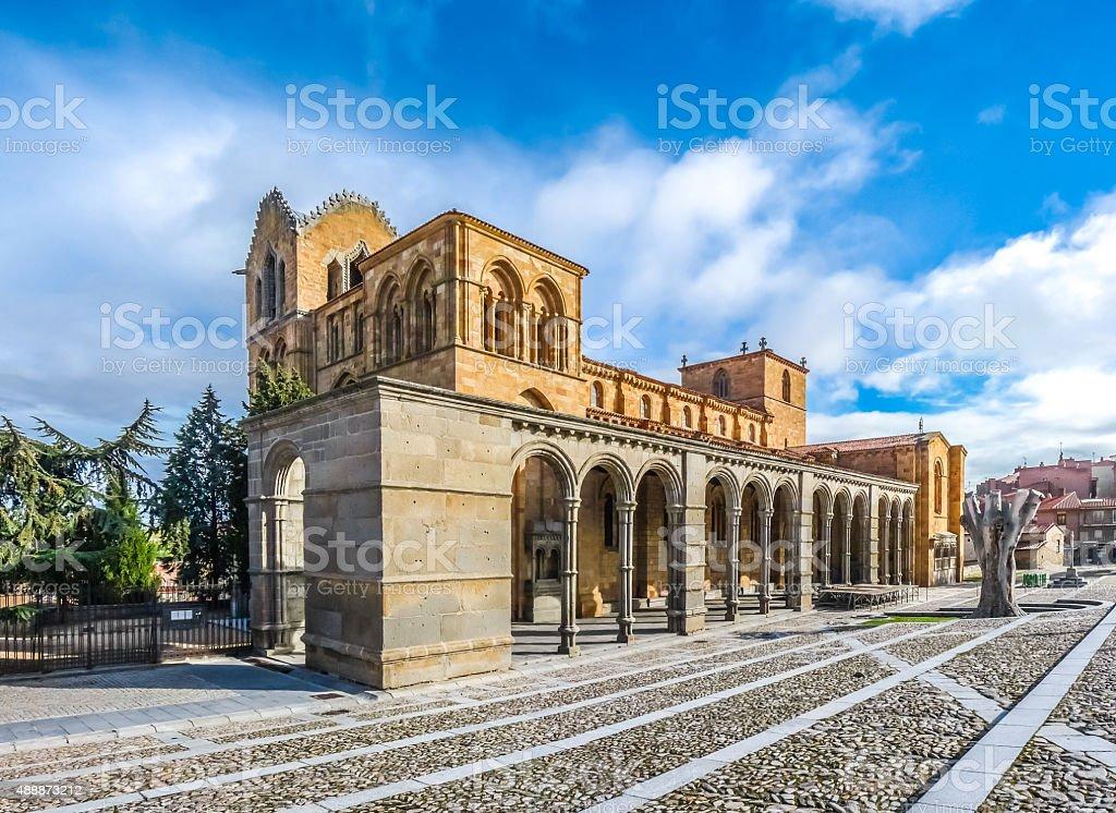 Beautiful Basilica de San Vicente, Avila, Castilla y Leon, Spain stock photo