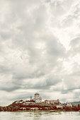 Beautiful basilica in Esztergom, Hungary, photo filter