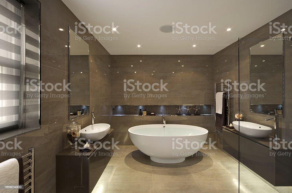 beautiful bathroom suite stock photo