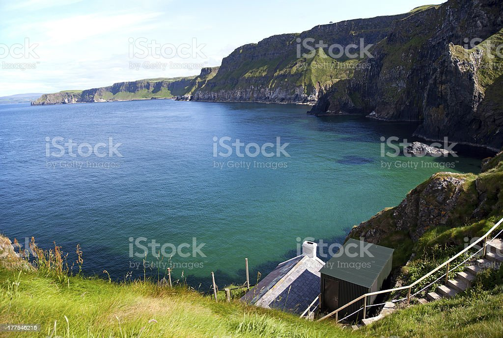 Beautiful bay at the Atlantic Ocean royalty-free stock photo