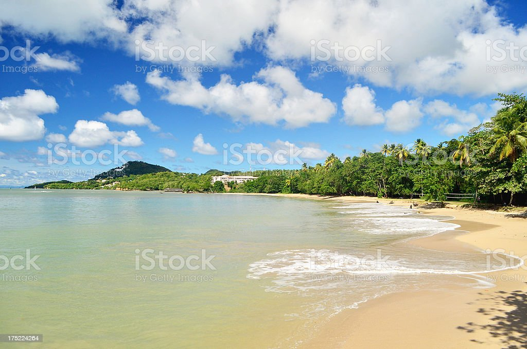 beautiful bay in caribbean royalty-free stock photo