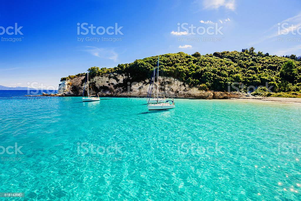 Beautiful bay in Greece stock photo