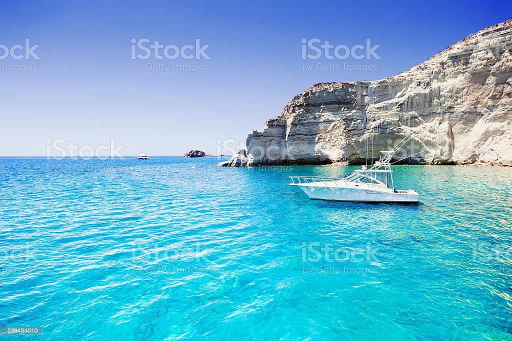 Beautiful bay in Greece stock photo