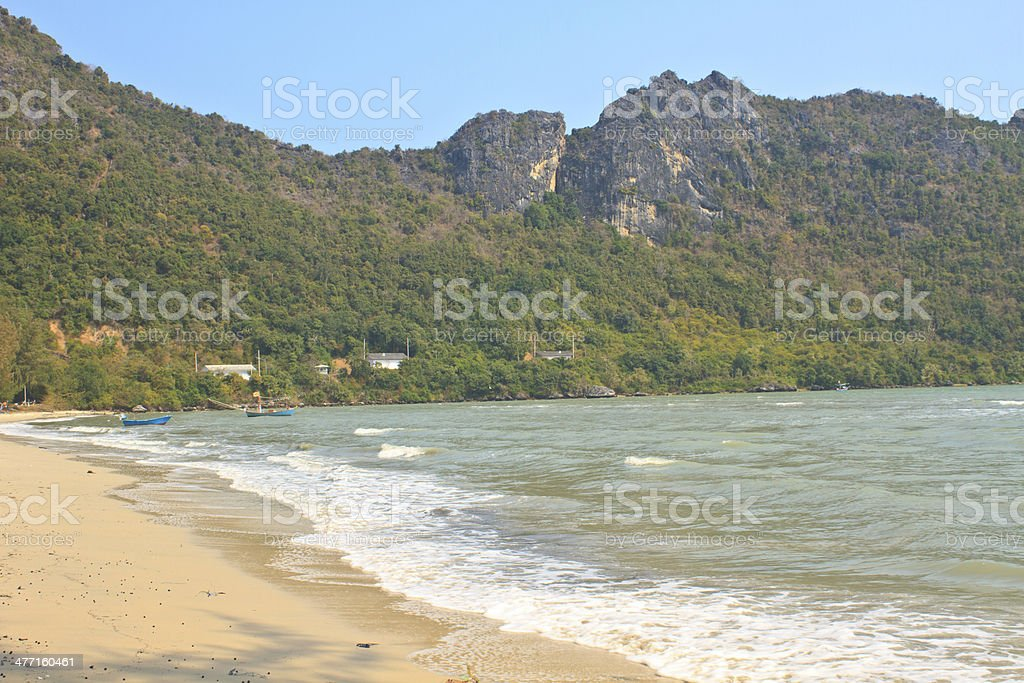 beautiful bay  in Prachuap Khir royalty-free stock photo