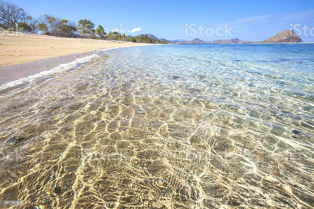 Beautiful beach and crystal clear ocean stock photo