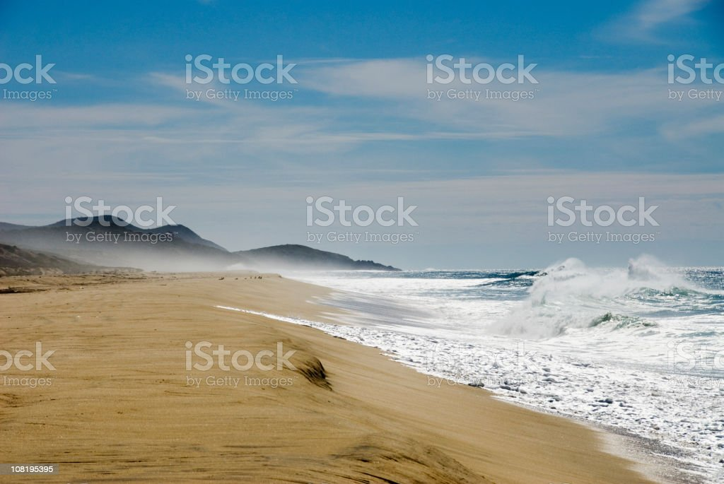 Beautiful Beach and Ocean Waves royalty-free stock photo