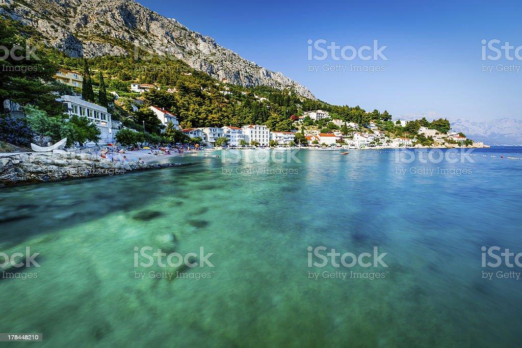Beautiful Beach and Transparent Turquoise Adriatic Sea stock photo
