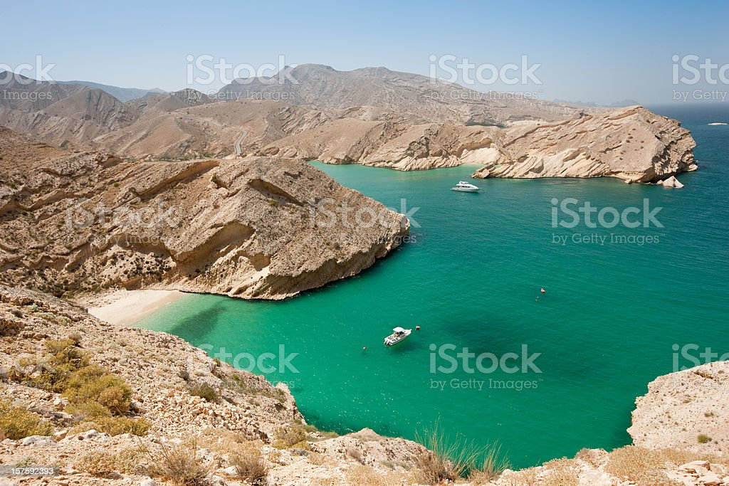 Beautiful Beach Arabian Lagoon Oman royalty-free stock photo