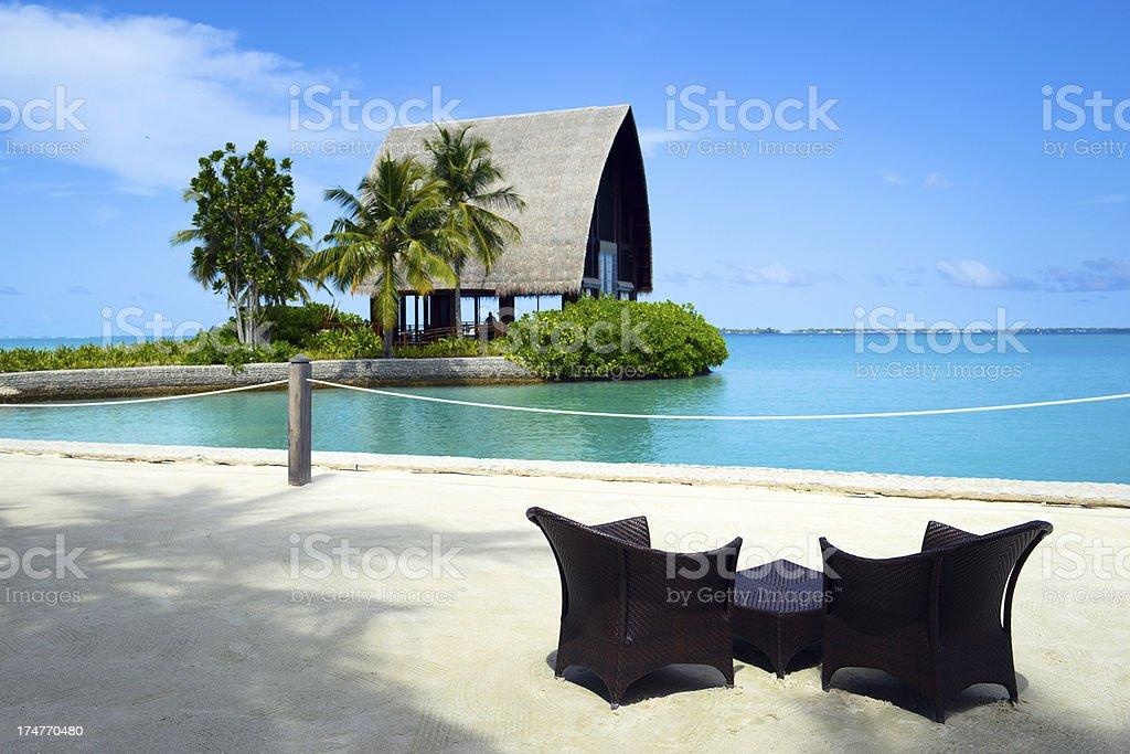 Beautiful Beach Architecture royalty-free stock photo