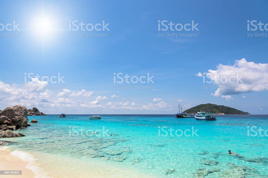 Beautiful beach at Koh Miang in Mu Koh Similan, Thailand stock photo