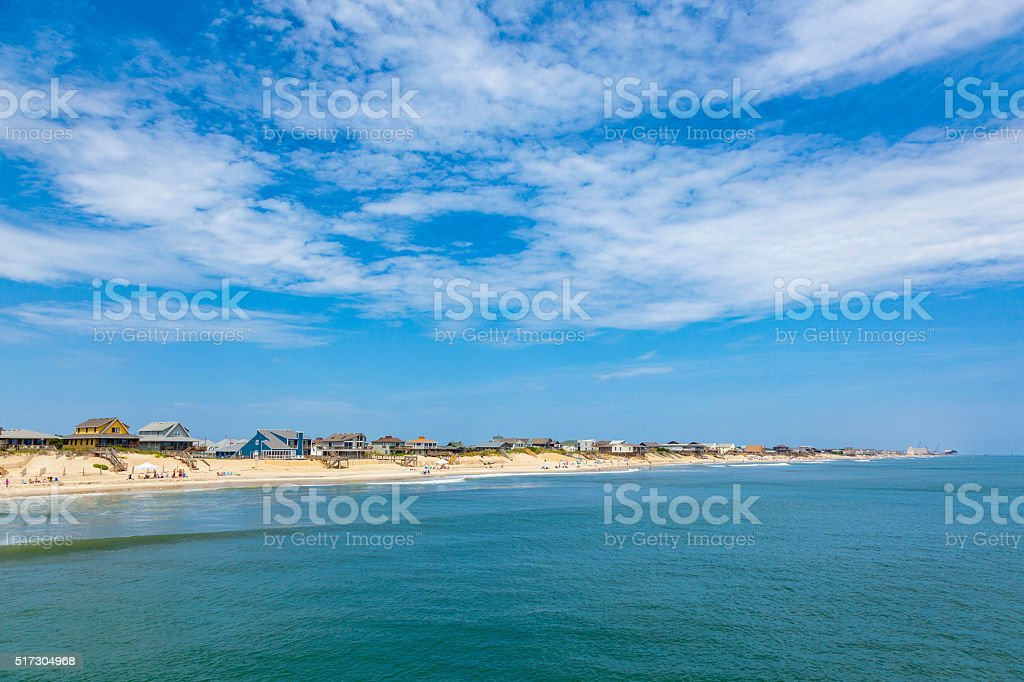 beautiful beach at nags Head in the Outer Banks stock photo
