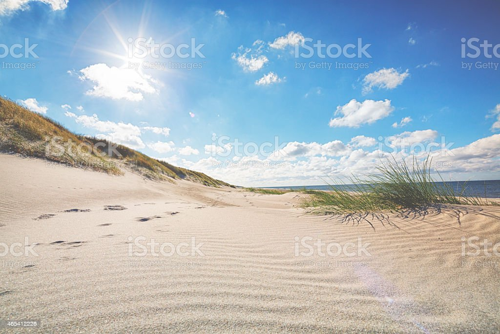 Beautiful beach by the North Sea stock photo