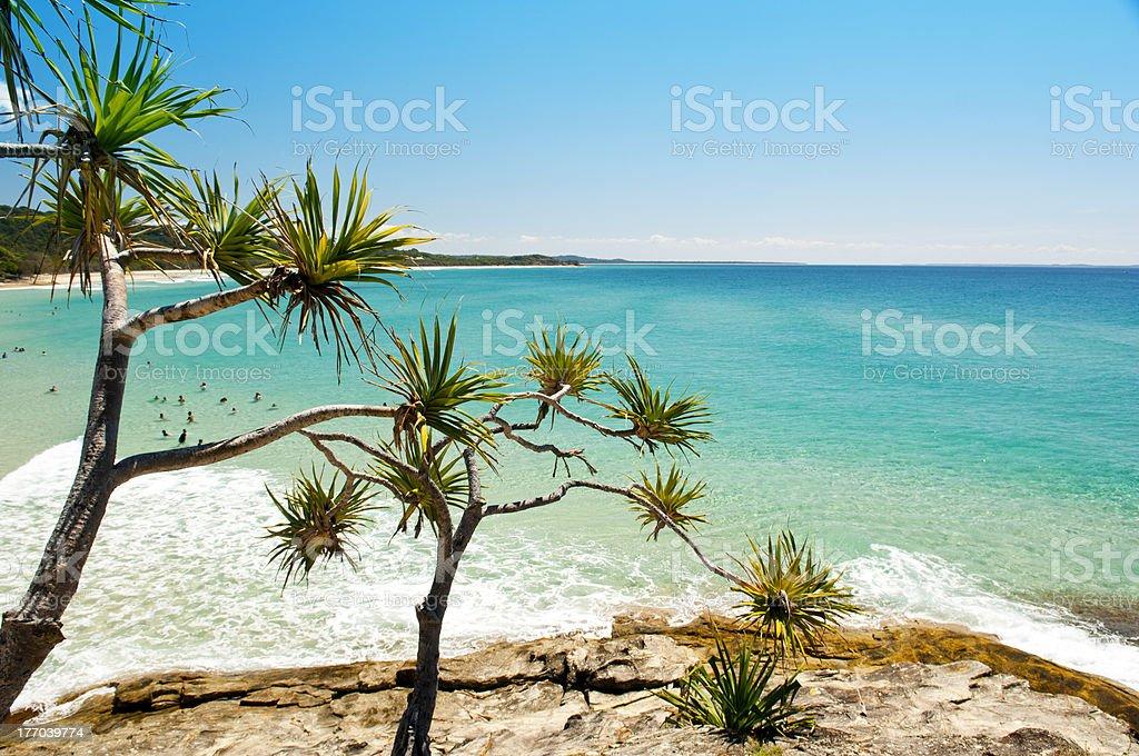 A beautiful beach in Australia stock photo