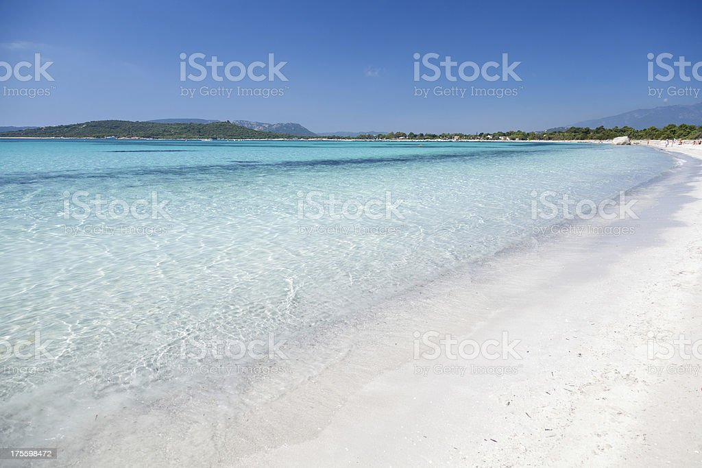 Beautiful  Beach in Corsica, France stock photo