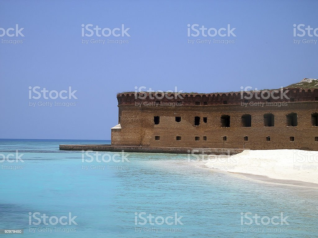 beautiful beach in dry tortugas island stock photo