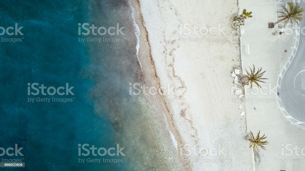 Beautiful beach in Italy on the Adriatic sea stock photo