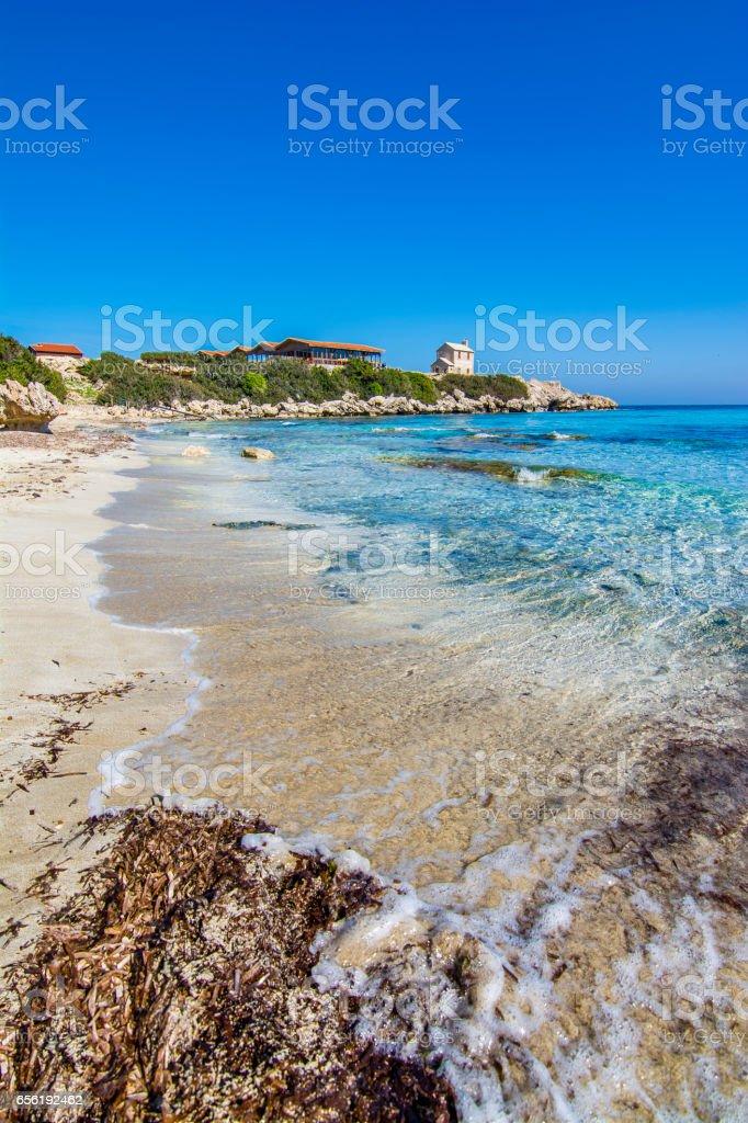 A beautiful beach in Karpaz region of Northern Cyprus stock photo