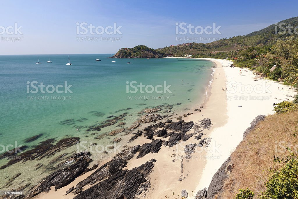 Beautiful Beach in Ko Lanta Thailand stock photo
