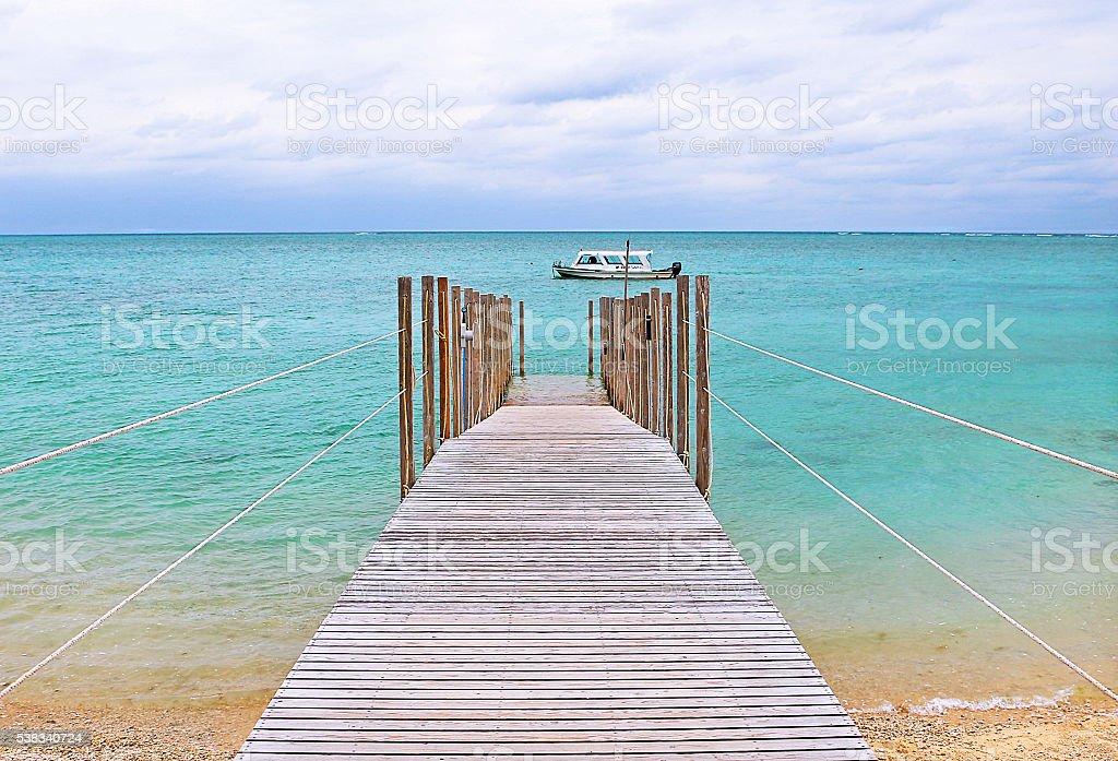 Beautiful beach in Okinawa, Japan stock photo