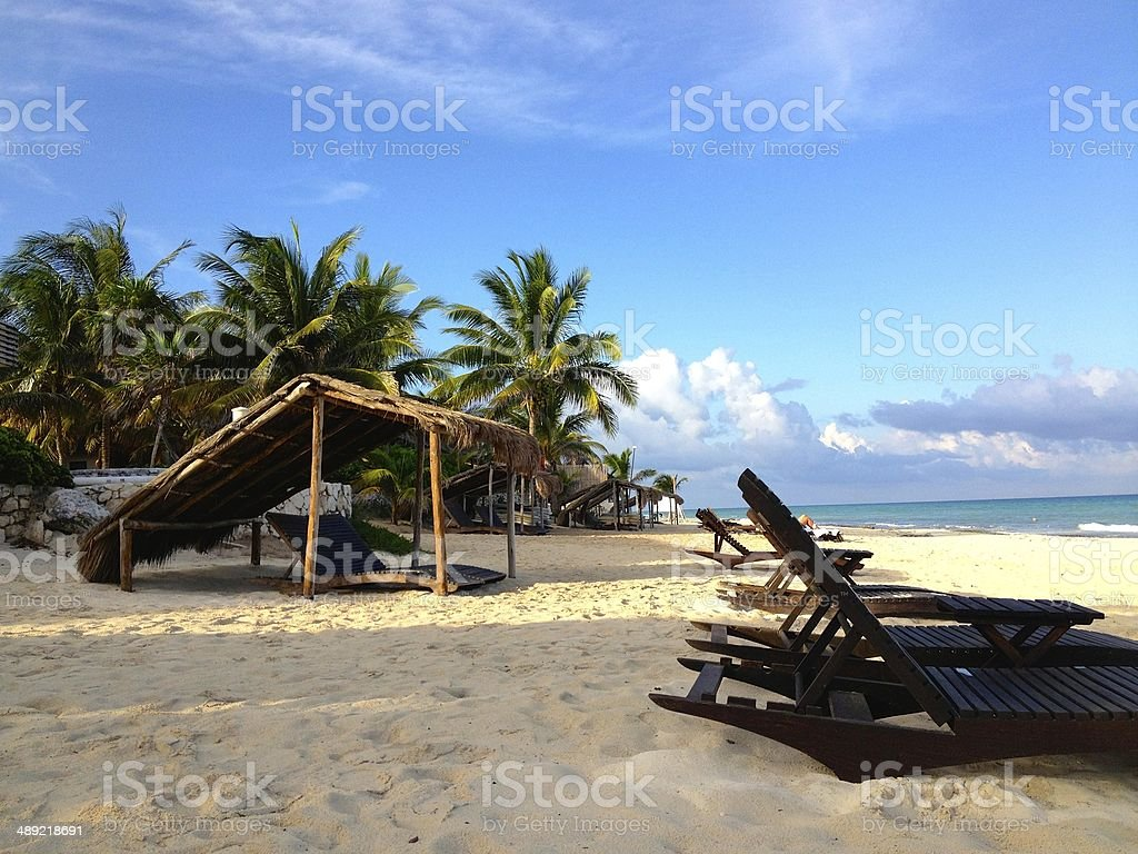Beautiful beach in Playa del Carmen royalty-free stock photo