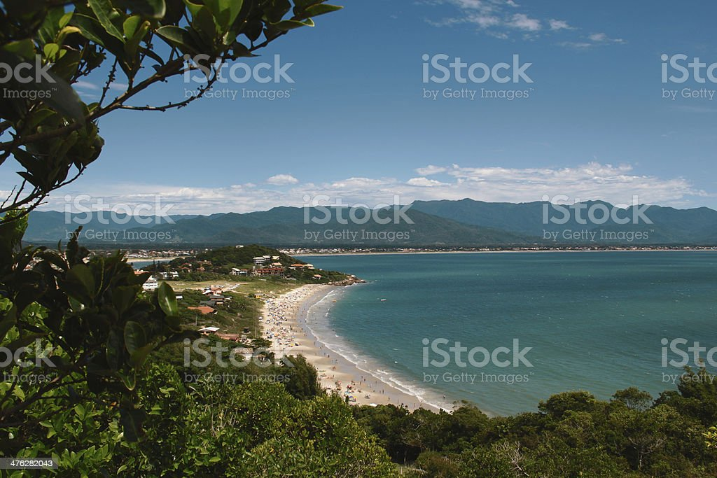 Beautiful Beach in South Brazil stock photo