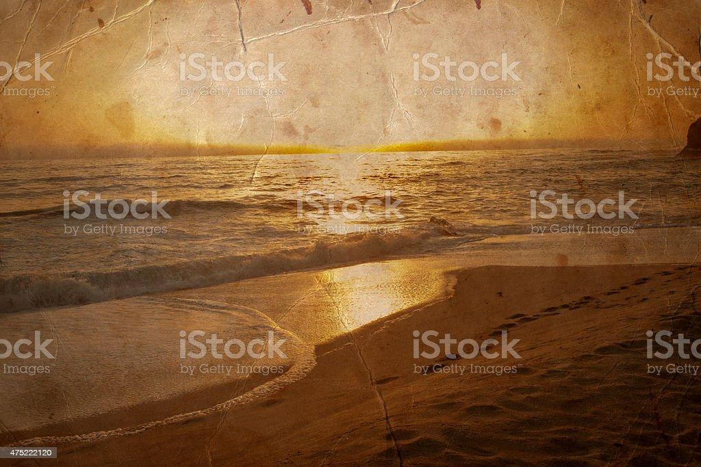 beautiful beach, Ocean water with waves. Sea shore stock photo
