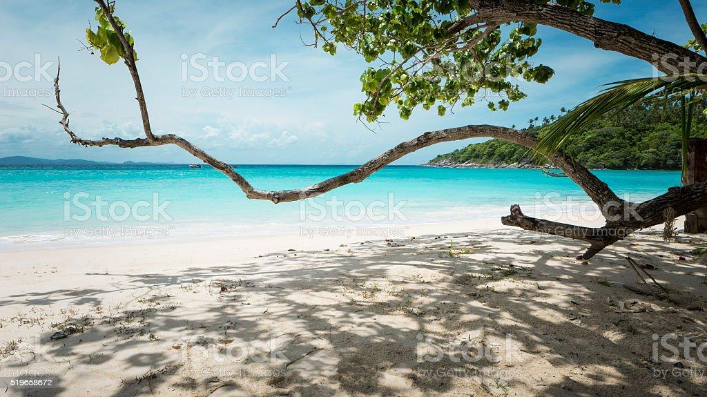 Beautiful beach of Raya island near Phuket island, Thailand stock photo