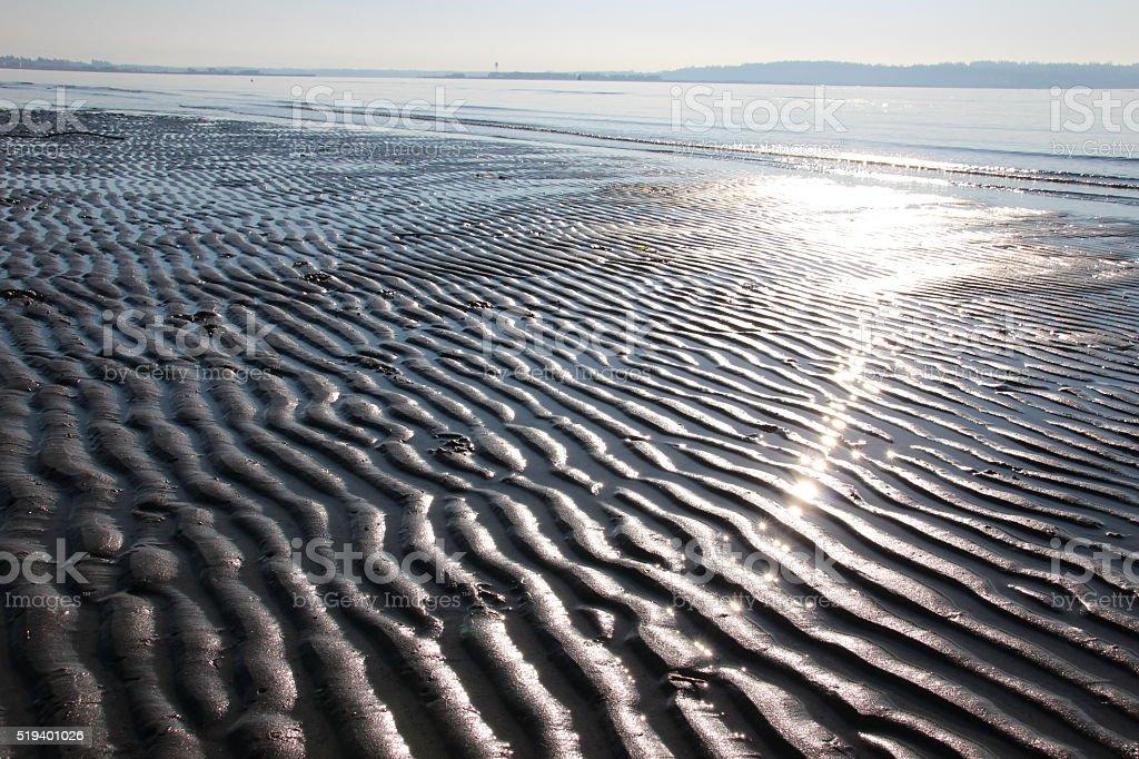 Beautiful beach pattern stock photo
