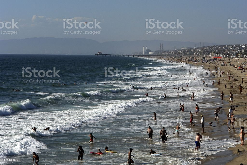 Beautiful Beach People Los Angeles California royalty-free stock photo