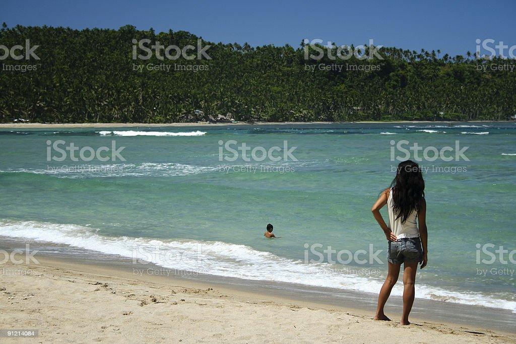 beautiful beach philippines royalty-free stock photo