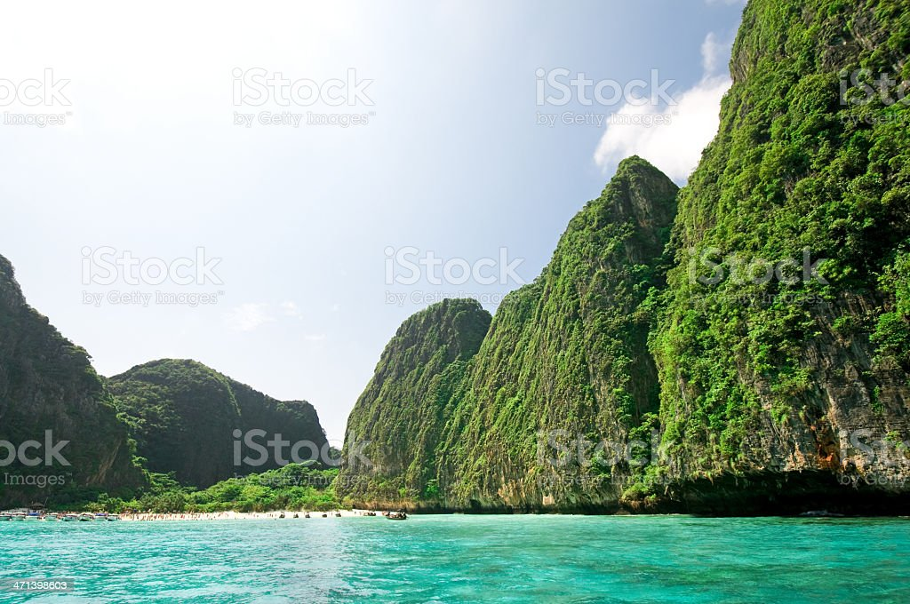Beautiful beach Phi-phi islands, Thailand royalty-free stock photo