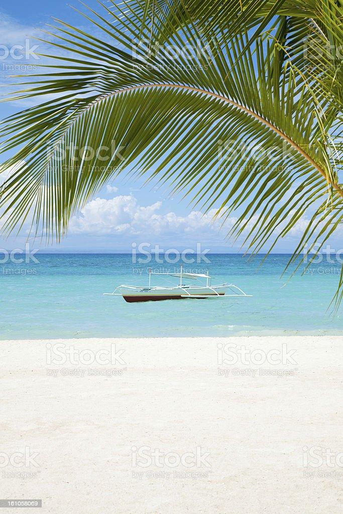 Beautiful beach scenery stock photo