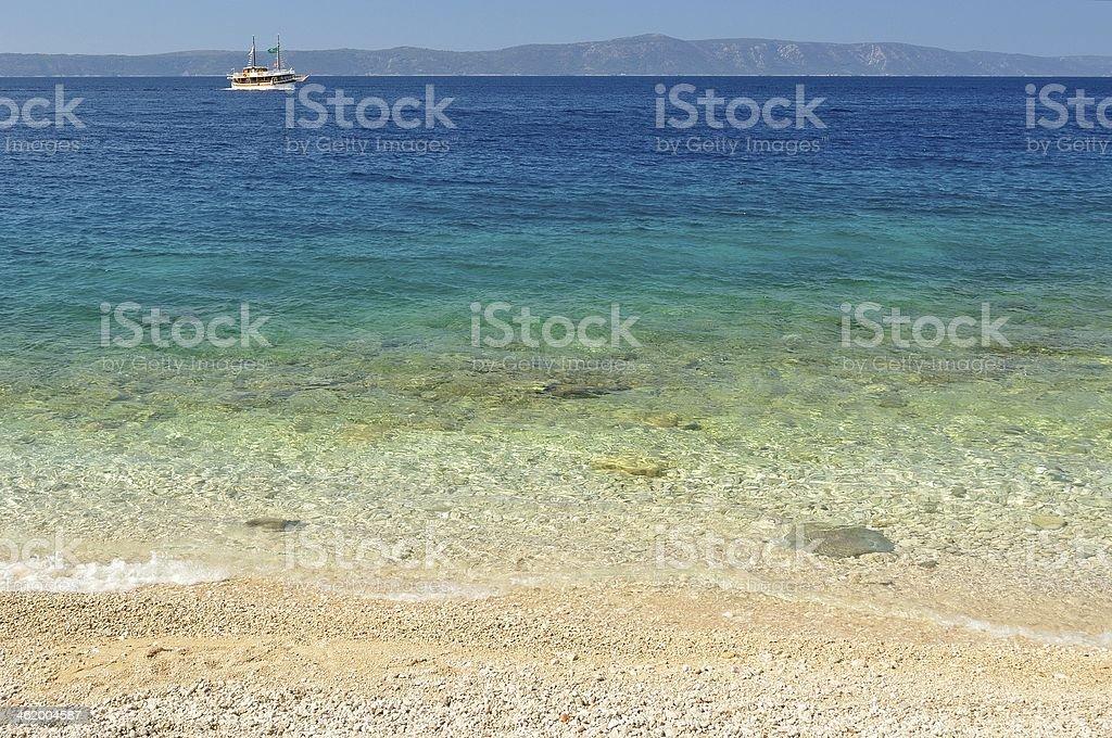 Piękna plaża z jasne wody zbiór zdjęć royalty-free