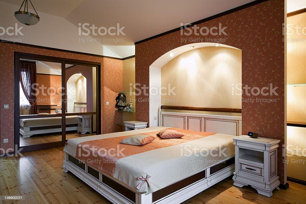 Beautiful bedroom interior royalty-free stock photo