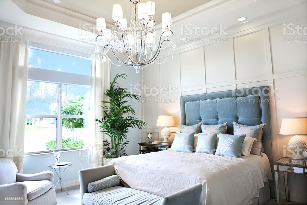 beautiful bedroom stock photo