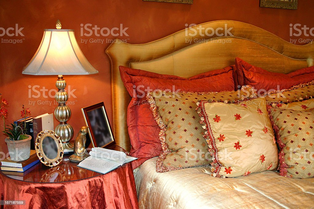 Beautiful Bedside stock photo
