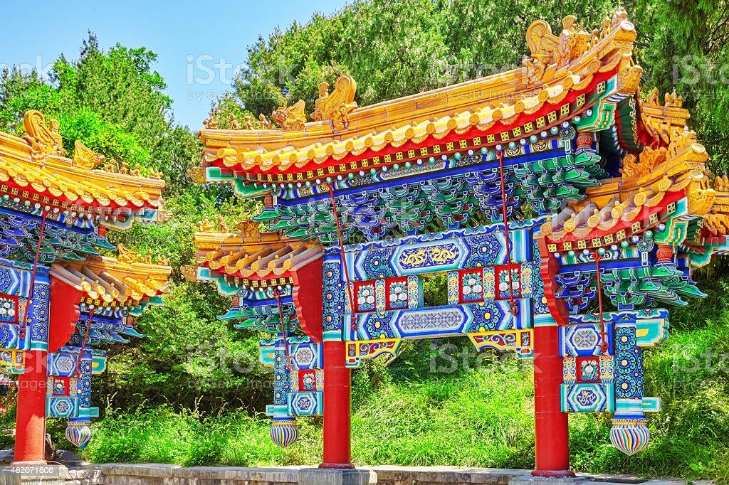 Beautiful Beihai Park, near the Forbidden City, Beijing. stock photo