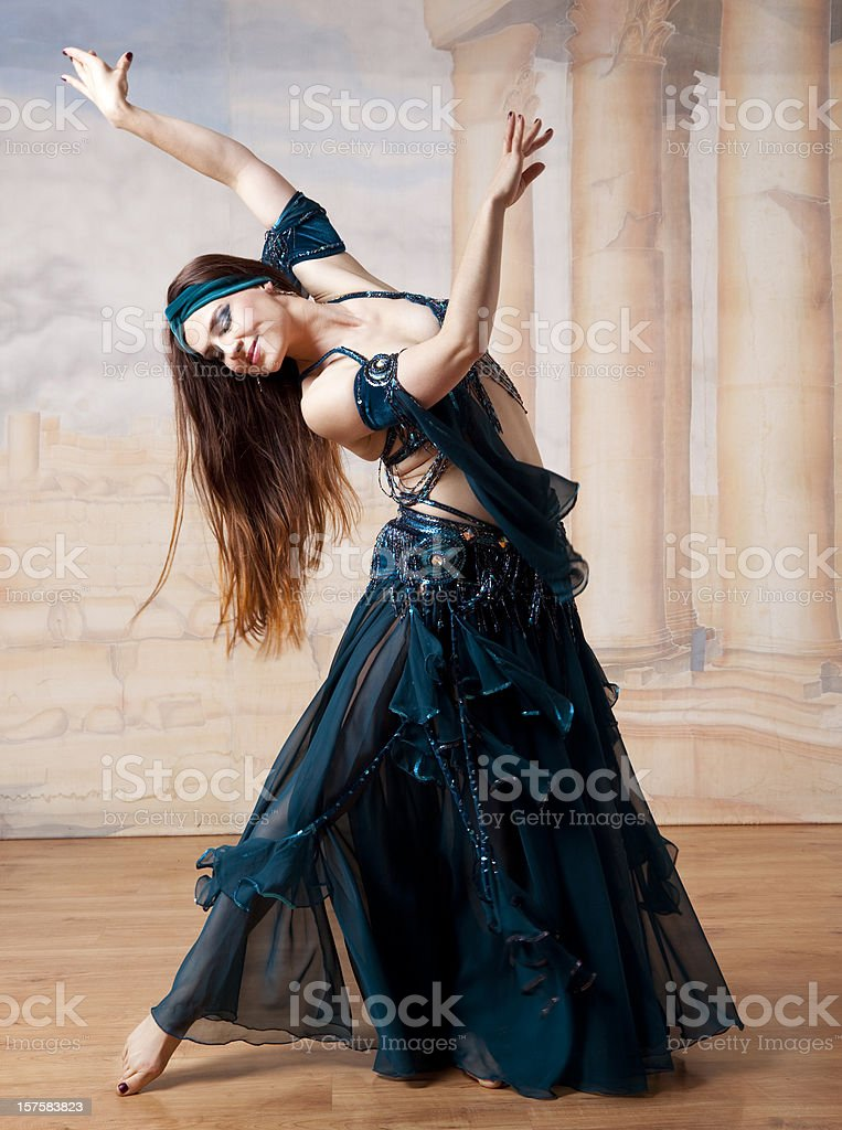 beautiful belly dancer stock photo