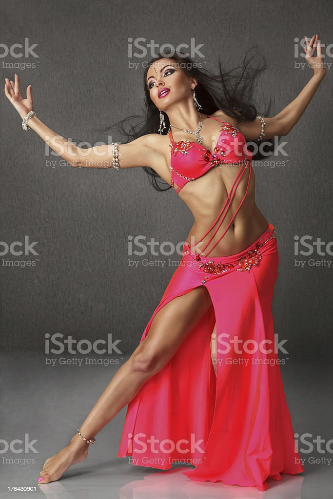 Beautiful belly dancer woman stock photo