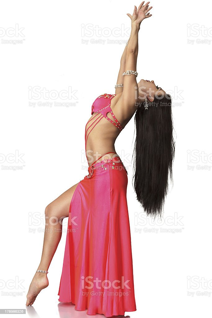Beautiful belly dancer woman royalty-free stock photo