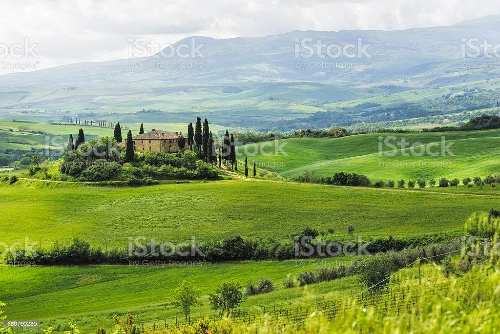 Beautiful Belvedere - villa in Tuscany/Italy stock photo