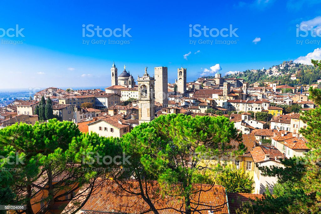 Beautiful Bergamo,Lombardy,Italy. stock photo