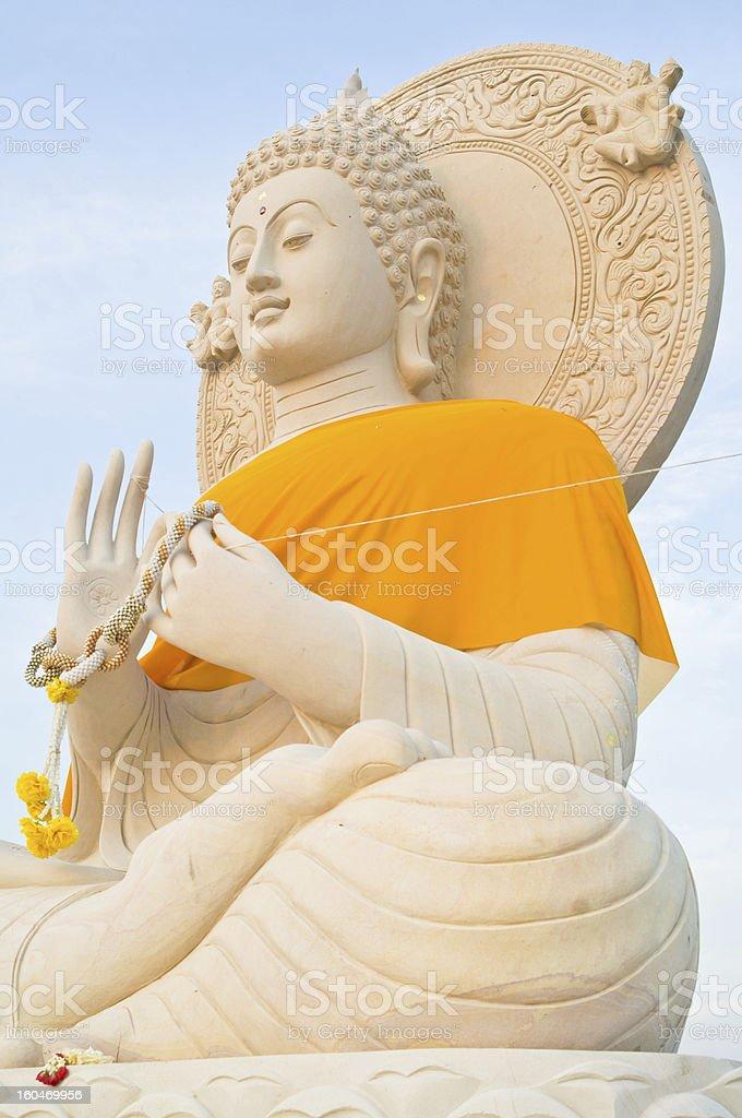 Beautiful big buddha statue royalty-free stock photo