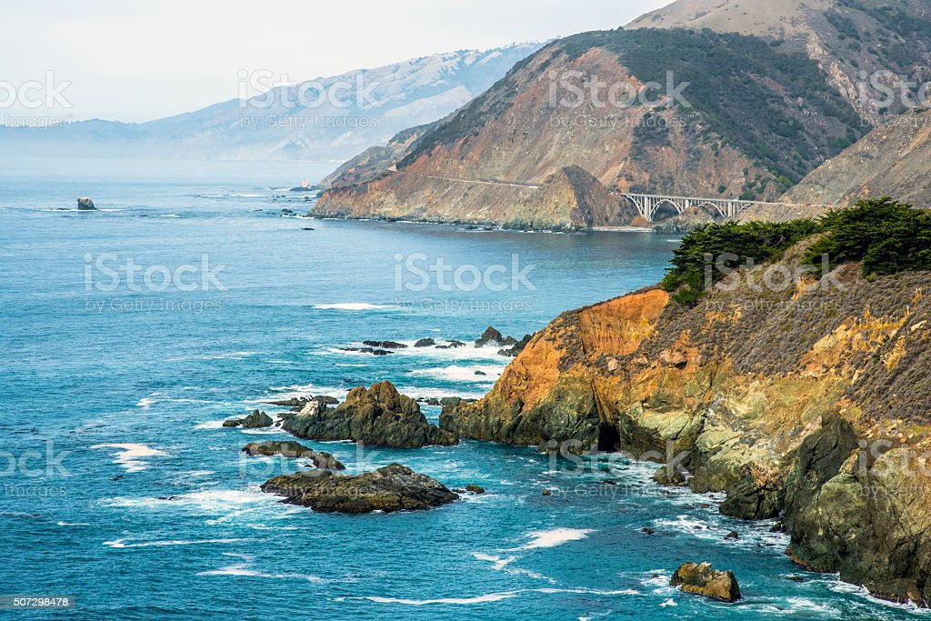 Beautiful Big Sur stock photo